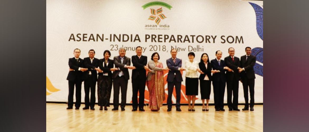 ASEAN-India Preparatory Senior Officials Meeting on 23rd January 2018, New Delhi