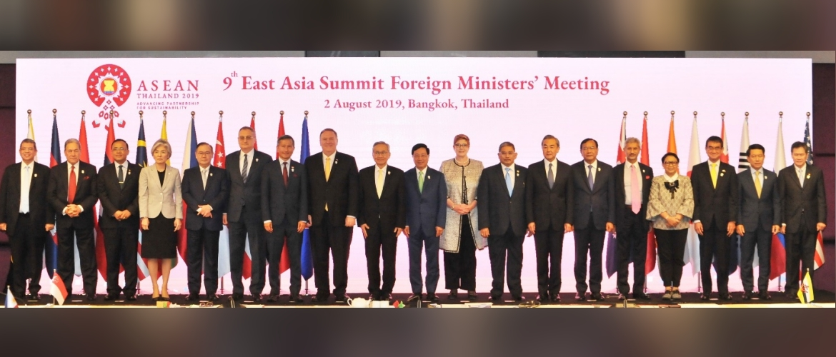 """9th East Asia Summit Foreign Ministers' Meeting, 2 August 2019, Bangkok, Thailand"""